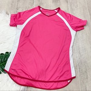 Nike Dri Fit Short Sleeve Pink Athletic Shirt 3150